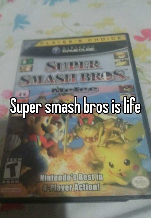 Super smash bros is life