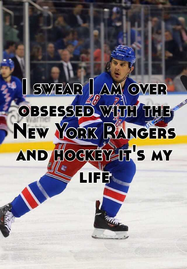 I swear I am over obsessed with the New York Rangers and hockey it's my life
