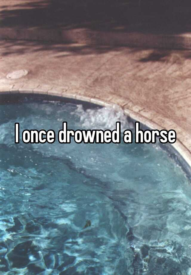 I once drowned a horse