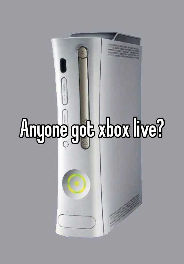 Anyone got xbox live?