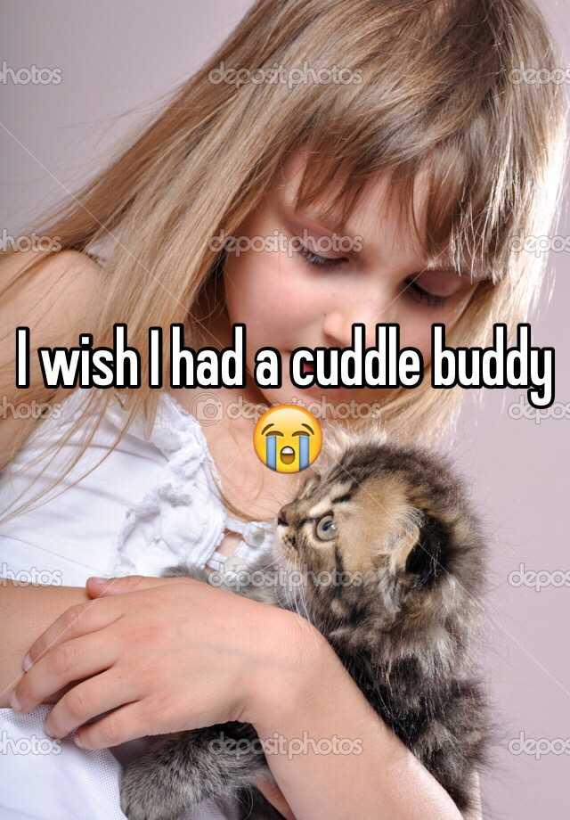 I wish I had a cuddle buddy 😭