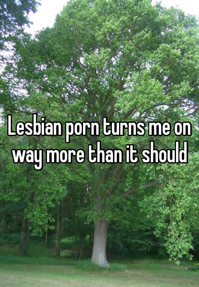 Lesbian porn turns me on way more than it should