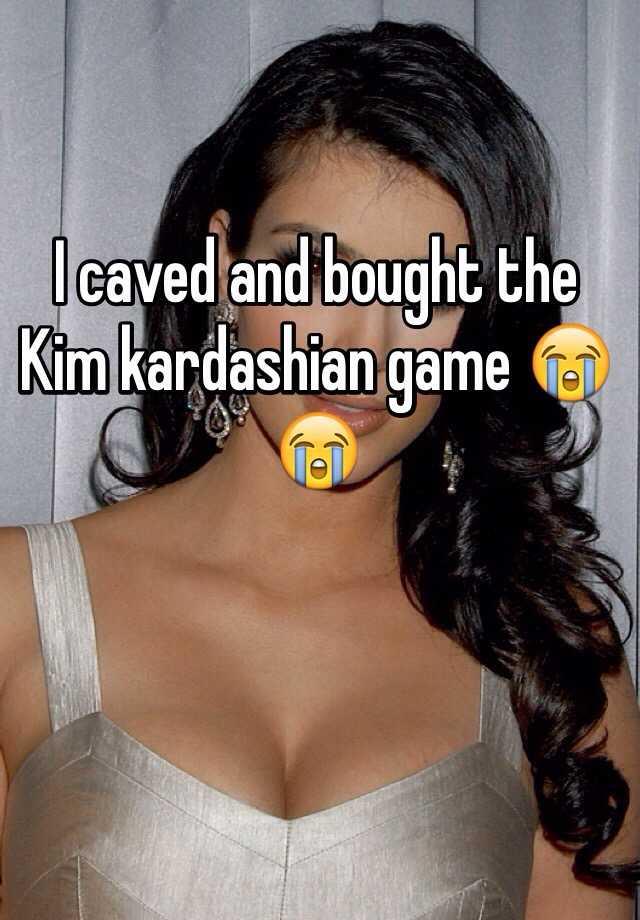 I caved and bought the Kim kardashian game 😭😭